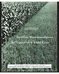 Fertilizer Recommendations, Document E55... by D. D. Warncke