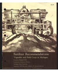 Fertilizer Recommendations:, Document E5... by D. D. Warncke
