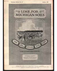 Lime for Michigan Soil, Document E57 by John Sims