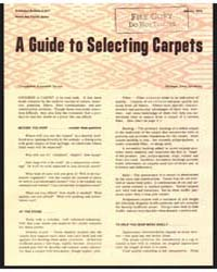 A Guide to Selecting Carpets by Michigan State University