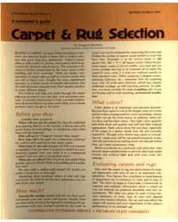 Carpet & Rug Selection, Document E571Rev... by Margaret Boschetti