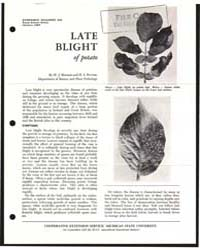 Late Blight of PO Ta To, Document E575 by W. J. Hooker