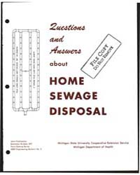 Questions and Answers About Home Sewage ... by John E. Vogt