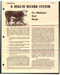 A Health Record System for Michigan Beef... by Michigan State University