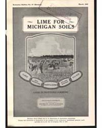Lime for Michigan Soils, Document E57Rev... by C. E. Millar