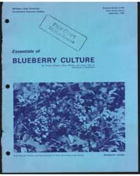 Essentials of Blueberry Culture, Documen... by Johnston, Stanley