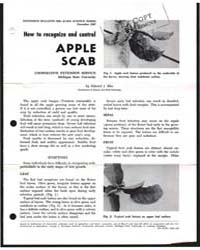 How to Recognize and Control Apple Scab,... by Edward J. Klos
