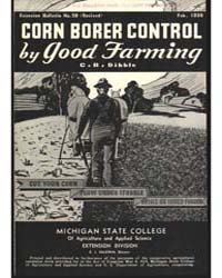 Corn Borer Control in Michigan, Document... by Baldwin, R. J.