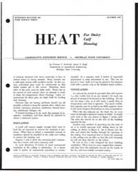 Heat for Dairy Calf Housing, Document E6... by Truman C. Surbrook