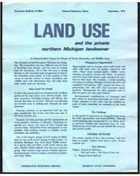 Land Use and the Private Northern Michig... by Michigan State University