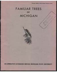 Familiar Trees of Michigan, Document E61... by Michigan State University