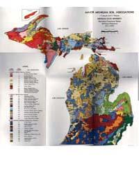Major Michigan Soil Associations, Docume... by I. F. Schneider