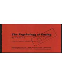 The Psychology of Eating, Document E631 by Dean, Anita