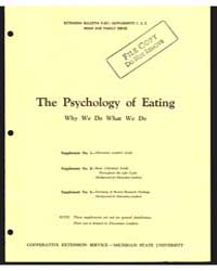 The Psychology of Eating Why We Do What ... by Dean, Anita