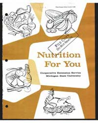 Nutrition for You, Document E640Print6 by Dean, Anita