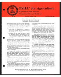 Osha for Agriculture, Document E649Rev1 by Michigan State University