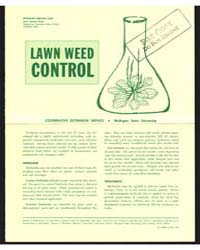 Lawn Weed Control, Document E653 by Michigan State University