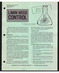 Lawn Weed Control, Document E653Rev1 by J. Turgeon