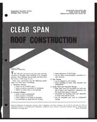 Clerr Span Roof Construction, Document E... by James S. Boyd