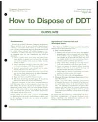 How to Dispose of Ddt, Document E664 by Michigan State University