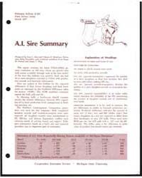 A.I. Sire Summary, Document E666Rev18 by L. Mao