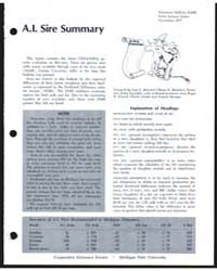 A.I. Sire Summary, Number 20 by Michigan State University