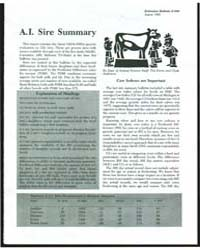 A.I. Sire Summary, Number 30 by Michigan State University