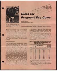 Diets for Pregnant Dry Cows, Document E6... by Don Hillman