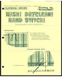 Wash! Dryclean! Hand Stitch!, Document E... by Bernetta Kahabka