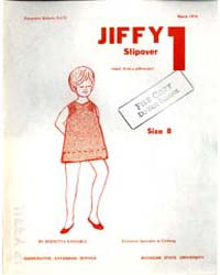 Jiffy 1 Slipover, Document E670 by Bernetta Kahabka