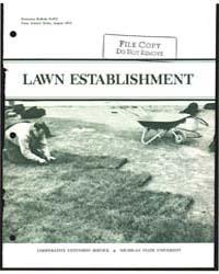 Lawn Establishment, Document E673Rev1 by J. B. Beard