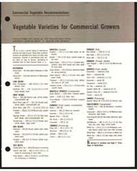 Vegetable Varieties for Commerical Growe... by Zandstra, Bernard H.