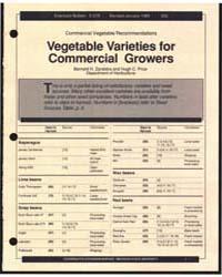 Vegetable Varieties For, Document E675Tr... by Zandstra, Bernard H.