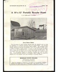 A 10'X12' Portable Brooder House, Docume... by C. G. Card