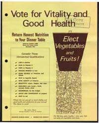 Vote for Vitality and Good Health, Docum... by Dean, Anita