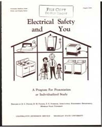 Electrical Safety, Document E690 by R. G. Pfister