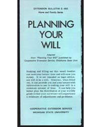 Planning Your Will, Document E693 by Michigan State University