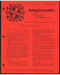 Clothing Serviceability, Document E695 by Kahabka, Bernetta
