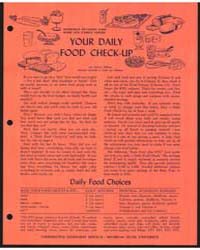 Your Daily Food Check-up, Document E699 by Dean, Anita