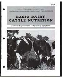 Basic Dairy Cattle Nutrition, Document E... by D. Hillman