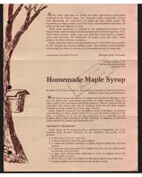 Homemade Maple Syrup, Document E703 by Koelling, Melvin R.