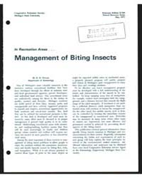 In Recreation Areas Management of Biting... by Newson, H. D.