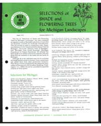 Selection of Shade and Flowering Trees, ... by Michigan State University