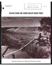 Tractor Power for Power-take-off Driven ... by R. G White