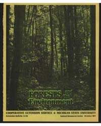 Forests and the Enviroment, Document E71... by Michigan State University
