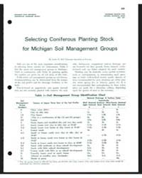 Selecting Coniferous Planting Stock, Doc... by Lester E. Bell
