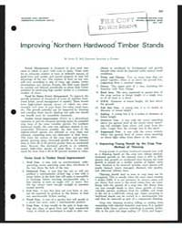 Improving Northern Hardwood Timber Stand... by Lester E. Bell