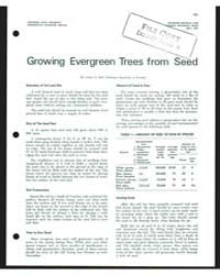 Growing Evergreen Trees from Seed, Docum... by Lester E. Bell