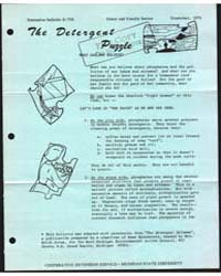 The Detergent Puzzle, Document E726 by Michigan State University