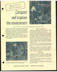 Compost will Improve the Environment, Do... by Willard E. Bosserman